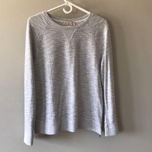 Loft grey & metallic thread sweatshirt